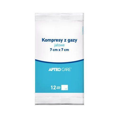 Apteo kompresy gazowe jałowe 7x7 12-warstwowe x 5 sztuk marki Synoptis pharma