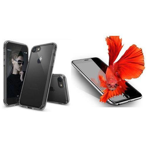 Rearth / perfect glass Zestaw | rearth ringke fusion smoke black | obudowa + szkło ochronne perfect glass dla modelu apple iphone 7