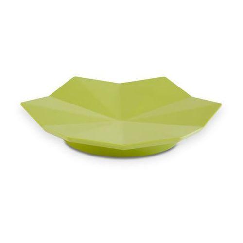 Aps Półmisek dekoracyjny z melaminy w kształcie liścia o średnicy 175 mm, zielony   , lotus