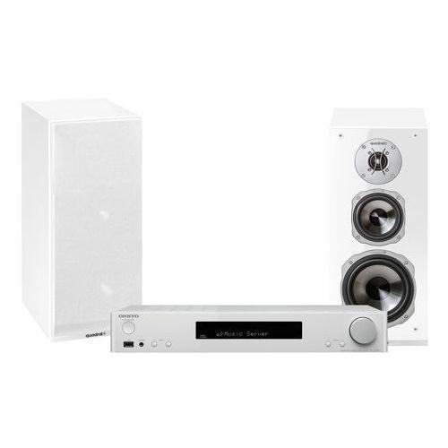 Onkyo Zestaw stereo tx-l20 + quadral argentum 530 biały + darmowy transport!