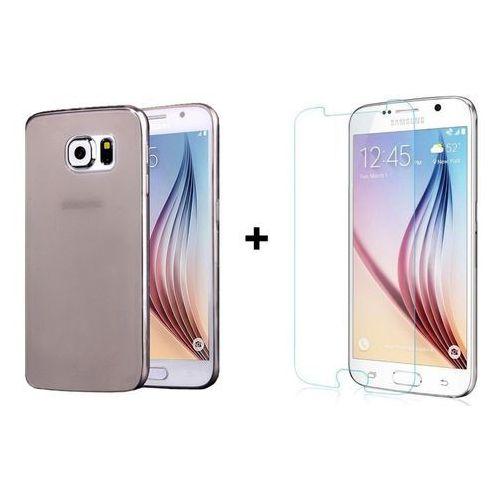 Zestaw obudowa ultra slim dymiona + szkło ochronne perfect glass samsung galaxy s6 marki Ultra slim / perfect glass