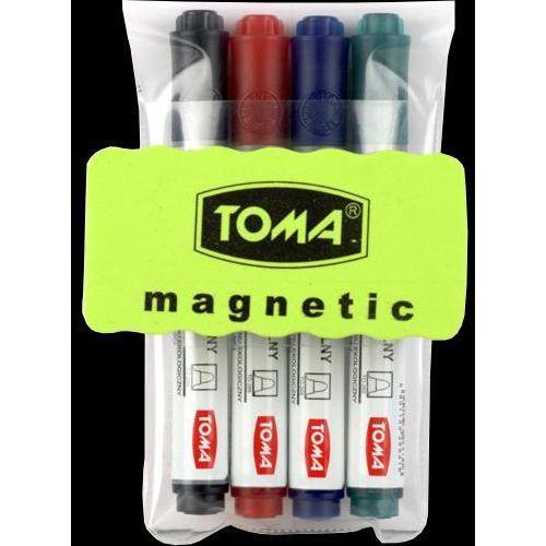 Toma Zestaw do tablic suchościeralnych to-266 (4 markery+ścierak) (5901133266057)