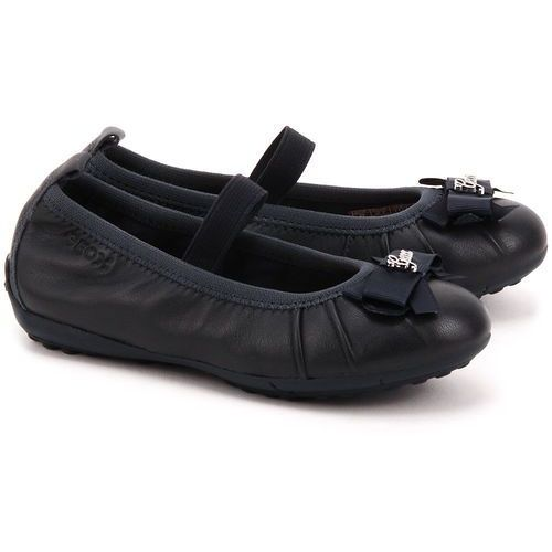 Junior Piuma Ball - Granatowe Skórzane Baleriny Dziecięce - J52B0B 00043 C4002 ze sklepu MIVO Shoes Shop On-line
