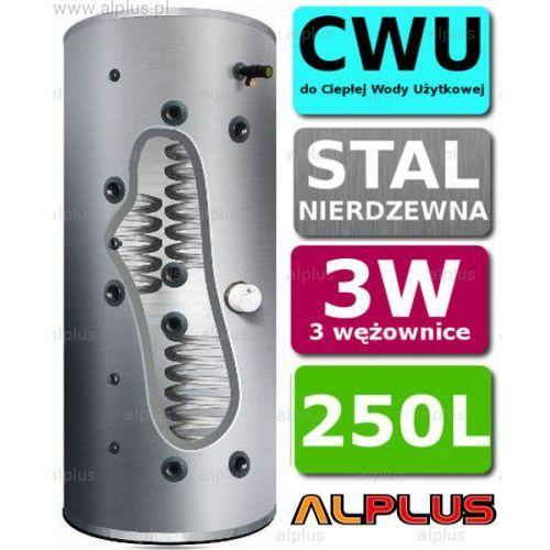 Bojler cyclone 250l 3-wężownice 3w nierdzewka wymiennik podgrzewacz cwu. wysyłka gratis! marki Joule