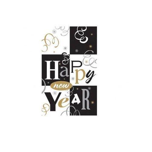 Amscan Obrus foliowy happy new year - 137 x 259 cm - 1 szt.