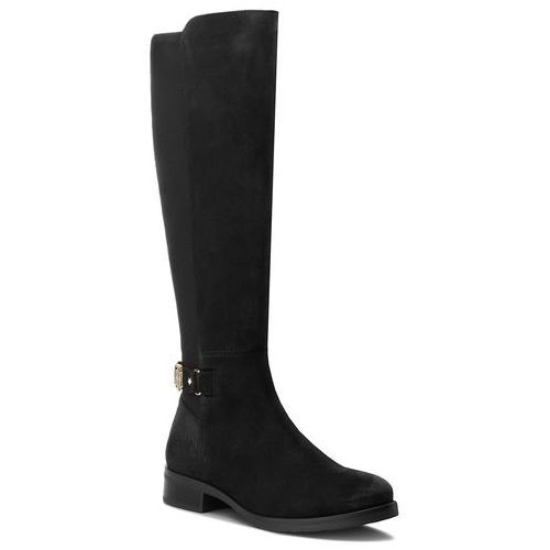Oficerki - th buckle high boot fw0fw03065 black 990, Tommy hilfiger, 36-41