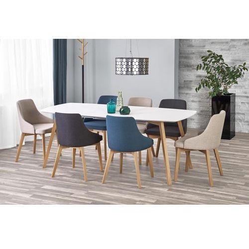 Rozkładany stół do jadalni z lakierowanym blatem kajetan 150 marki Halmar