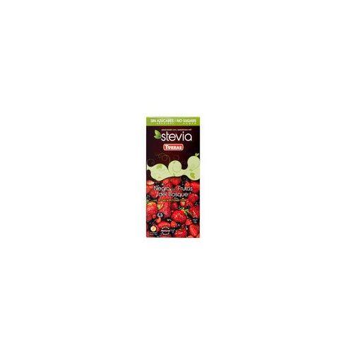 Czekolada gorzka z owocami leśnymi i stewia 125g Torras, 7155