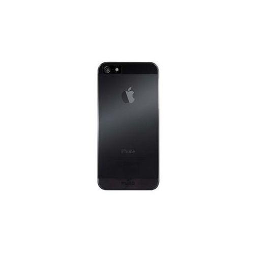PURO Fog Cover - Etui iPhone SE / iPhone 5s / iPhone 5 (czarny/przezroczysty), IPC5FOGBLK