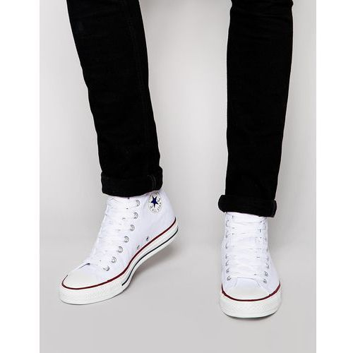 Converse All Star Hi Plimsolls In White M7650C - White