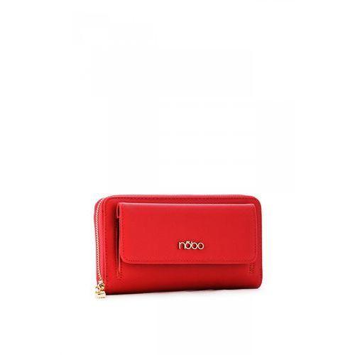 d302a3a3b1910 Nobo Czerwony portfel ze skóry ekologicznej - 119