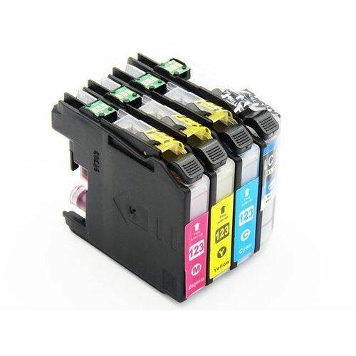 Zestaw tuszy LC123XL CMYK do Brother J132 J152 J552 / Black 26ml / Cyan 16ml / Magenta 16ml / Yellow 16ml