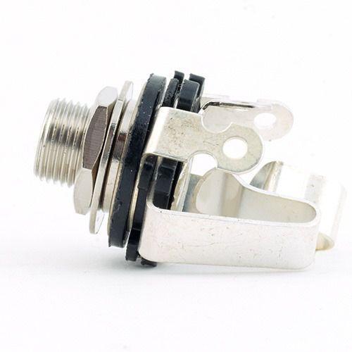 MEC Standard Plug open Stereo chrom contacts silver plates gniazdo gitarowe