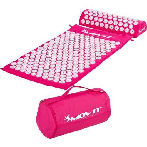 Różowa mata zdrowotna do akupresury z kolcami na ból pleców - różowy marki Movit ®