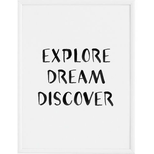 Plakat explore dream discover 50 x 70 cm marki Follygraph