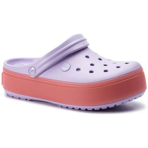 Crocs Klapki - crockband platform clog 205434 lavender/melon