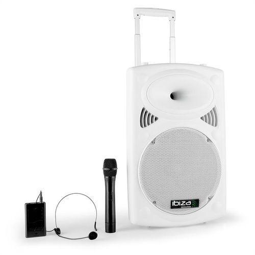 """Ibiza Port12VHF-BT 30cm (12"""") System nagłaśniający PA biały"""