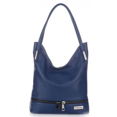 a7371cf1b3f63 Klasyczne Torebki Skórzane firmy Vittoria Gotti Made in Italy Niebieskie  (kolory) 269,00 zł delikatna, bezkompromisowa, a zarazem niezwykle kobieca  – taka ...