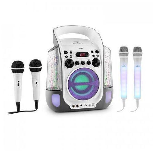 Kara Liquida zestaw do karaoke szary + Kara Dazzl zestaw mikrofonów LED