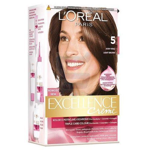 Excellence Creme farba do włosów 5 Jasny Brąz - L'Oreal Paris, kolor brąz