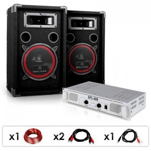 """System DJ PA """"DJ-15"""" wzmacniacz PA głośniki 1000W"""
