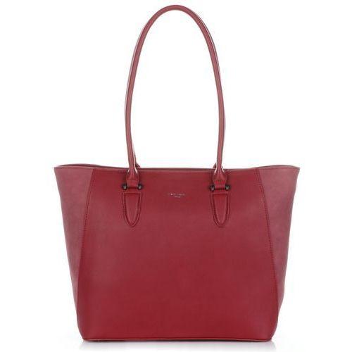 88a07e3f2f2dd David jones Klasyczne torebki damskie ze skóry ekologicznej bordowe  (kolory) 129