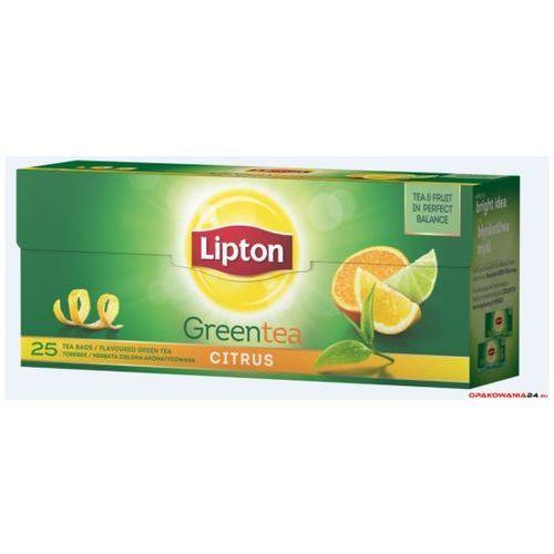 Herbata LIPTON GREEN CITRUS 25t/32g zielona