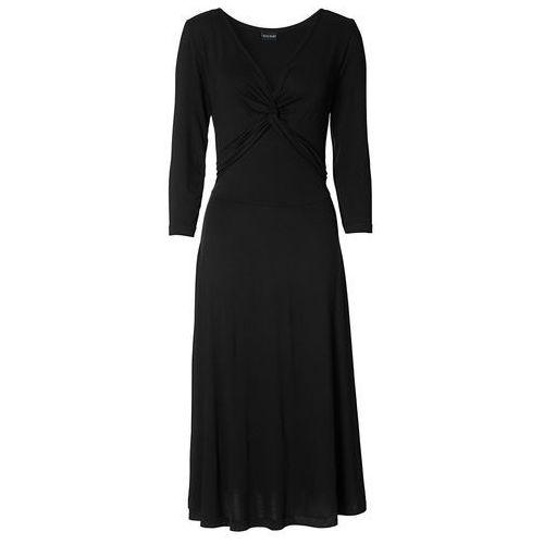 Sukienka z rękawami 3/4 bonprix czarny