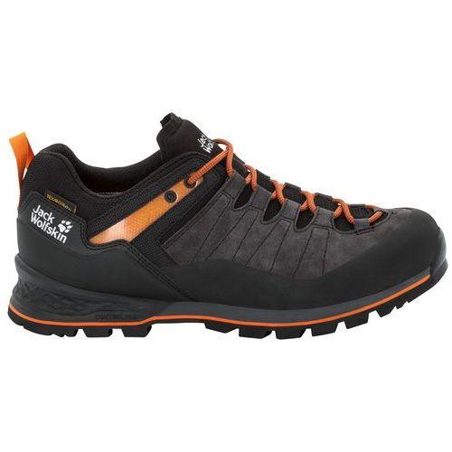 Jack wolfskin Męskie buty trekkingowe scrambler xt texapore low m phantom / orange - 9 (4060477338934)