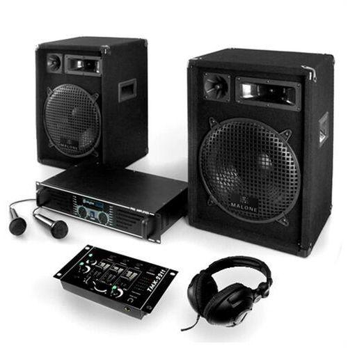 """Electronic-star zestaw dj pa """"bass-boomer-usb"""" 800w wzmacniacze mikrofony (4260130929732)"""