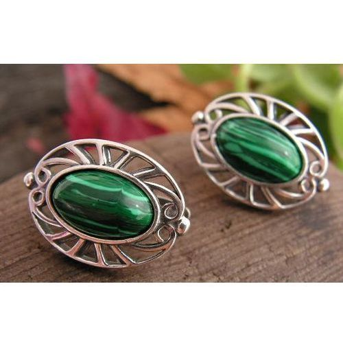 c16d786acadf11 GENTE - srebrne kolczyki z malachitem 80,00 zł Stylowe, konwencjonalne  kolczyki, które swój piekny wzór zawdzieczaja przywiazaniu do tradycji  naszego ...
