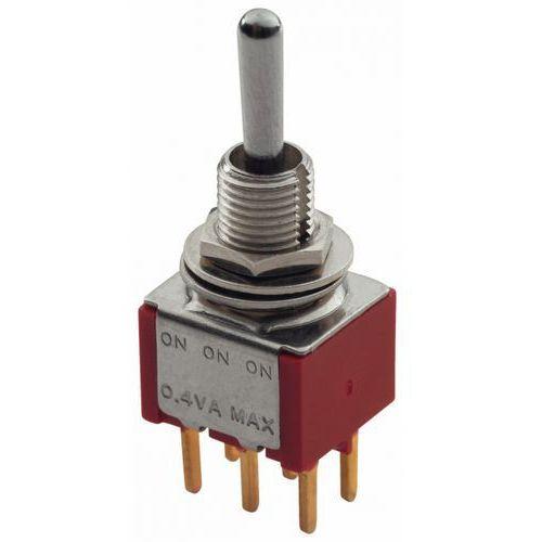 mini toggle switch chrome on-on-on dpdt std toggle print lug przełącznik gitarowy marki Mec
