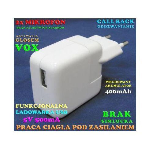 Podsłuch Otoczenia (cały świat!) Ukryty w Zasilaczu USB + Powiadomienie na Tel. (VOX)...