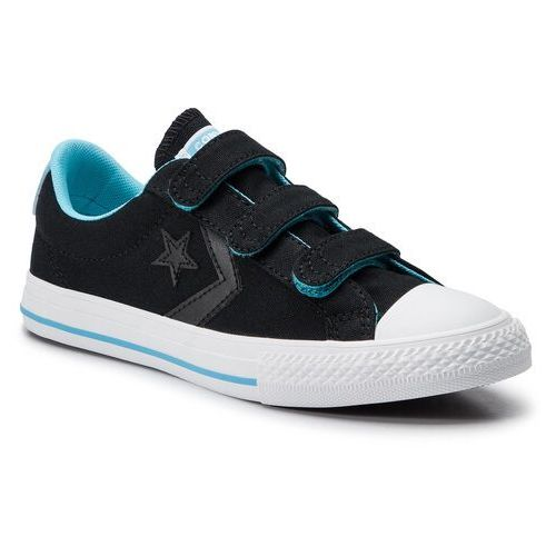 Converse Trampki - star player ox 664184c black/gnarly blue/white