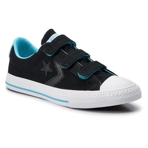Trampki - star player ox 664184c black/gnarly blue/white marki Converse