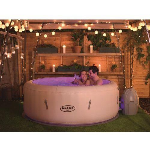 Beliani Przenośny nadmuchiwany basen z hydromasażem, podgrzewana woda - lay-z-spa paris