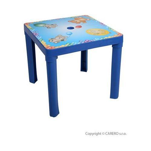 Dziecięcy plastikowy stolik niebieski