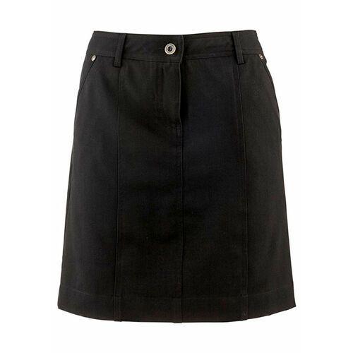 Spódnica ze stretchem z wpuszczanymi kieszeniami czarny marki Bonprix