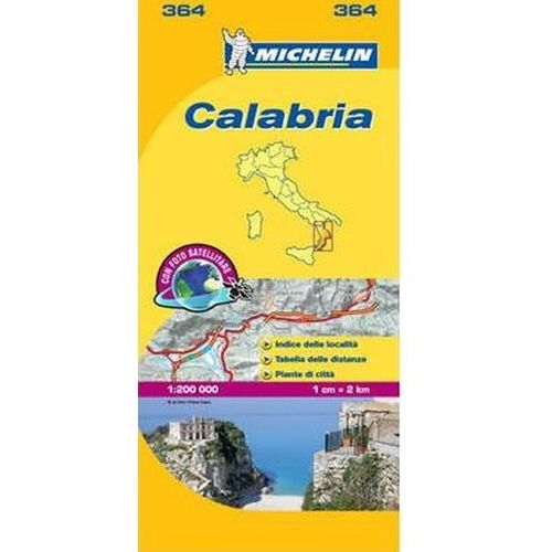 Calabria Map - 1:200 000 (364 Michelin) neuveden (9782067126732)