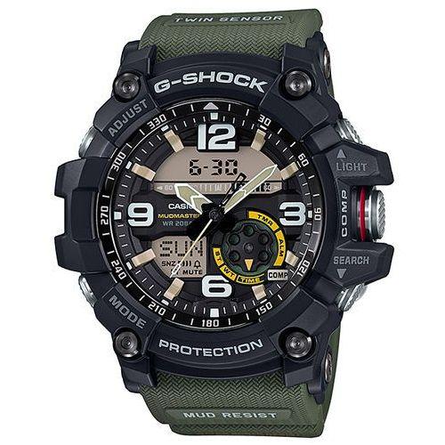 g-shock master of g mudmaster zegarek gg-1000-1a3 - zielony marki Casio
