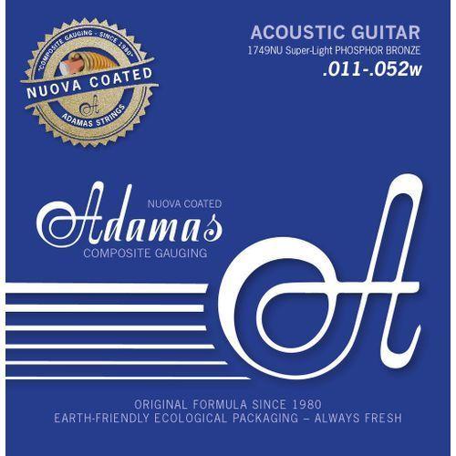 (664640) phosphor bronze nuova powlekane struny do gitary akustycznej - super-light.011-.052 marki Adamas