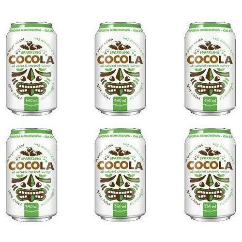 154diet-food Naturalna gazowana woda kokosowa w puszce 6x330ml - cocola diet-food