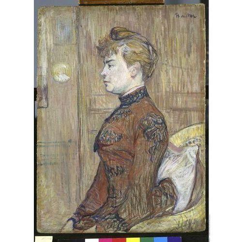 obraz Bildnisstudie einer Frau im Profil (auch Die Tochter des Schutzmanns genannt) Henri de Toulouse-Lautrec (obraz)
