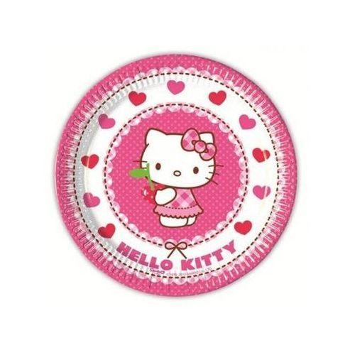 Talerzyki urodzinowe hello kitty serca - 20 cm - 8 szt. marki Procos