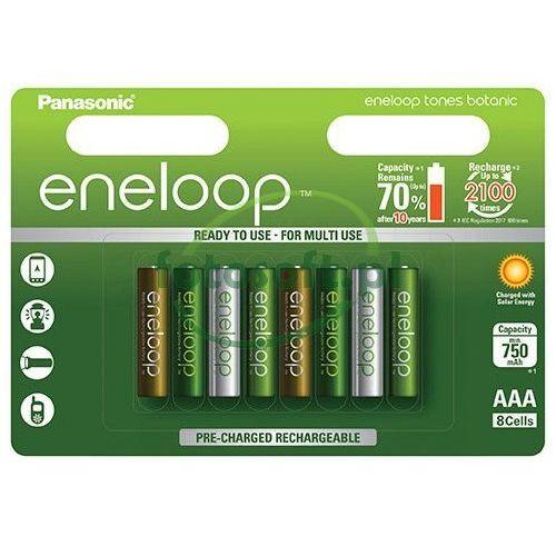 Panasonic 8 x akumulatorki eneloop tones botanic r03/aaa 800mah (blister) (5410853060840)
