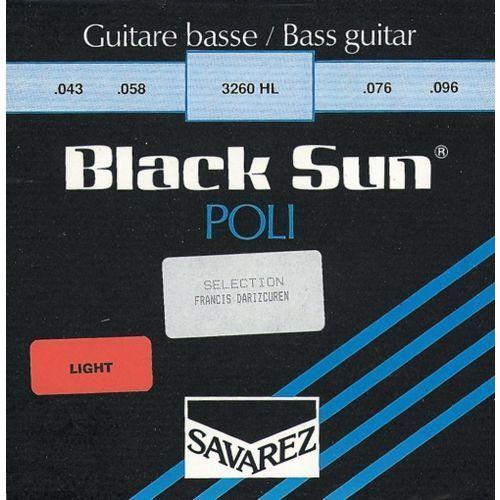 Savarez b70xl5 (682335) struny do gitary basowej black sun nickel. półokrągłe. polerowane 5-str. ex-light