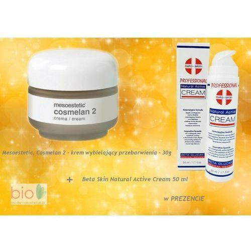 Cosmelan 2,  - krem wybielający przebarwienia + Beta Skin, Natural Active Cream – w PREZENCIE – 30ml/50ml, produkt marki Mesoestetic