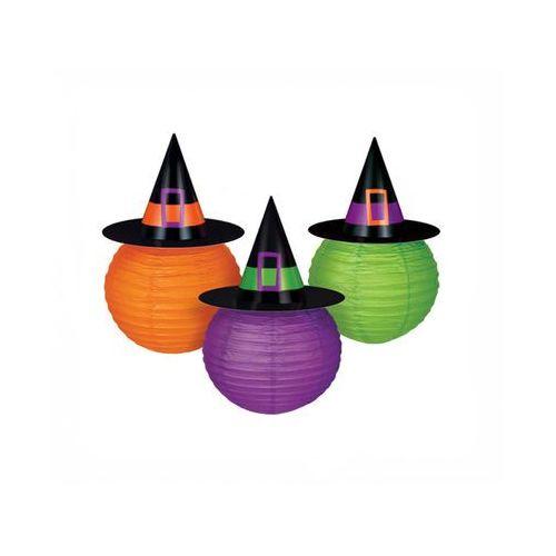 Amscan Lampion kapelusz czarownicy - 3 szt.
