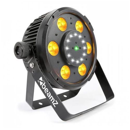 Beamz BX100 reflektor LED PAR 6 x 6W LED RGBW 4-w-1 12 diod stroboskopowych laser RG (8715693292510)