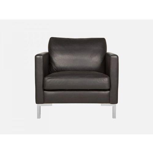 Fotel Impulse ANILINE black skóra czarna nogi srebrne  E2758-0000-2S-ANILINEb-124, marki Sits do zakupu w sfmeble.pl